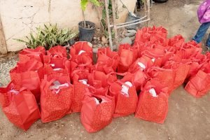 Christmas Distribution 2014 gift bags